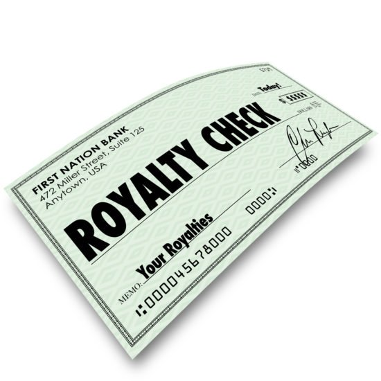 Royalty Check Commission Income Percentage Revenue Sales