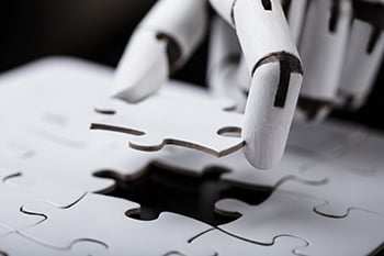 Robot Holding Jigsaw Puzzle