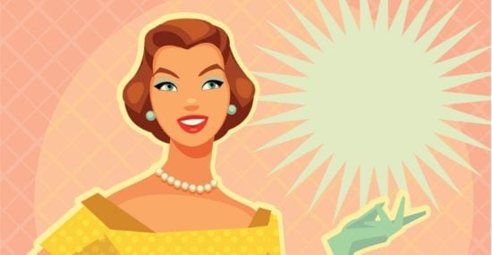 digital-illustration-of-a-lady-with-vintage-yellow-dress-vector-id149426919