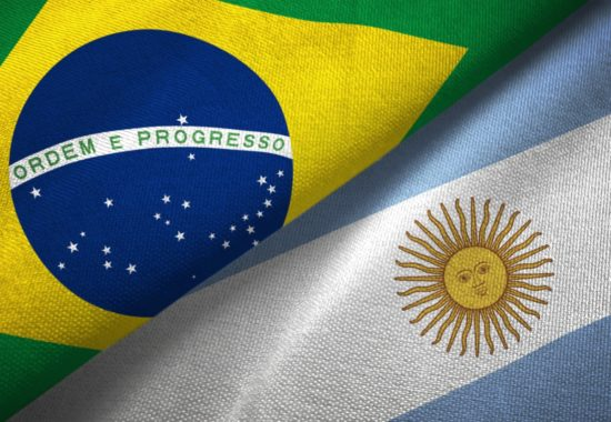 argentina-and-brazil-two-flags-together-realations-textile-cloth-picture-id1089427552
