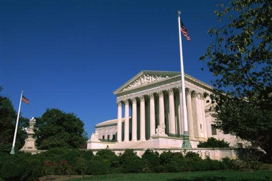 Exterior of the US Supreme Court, Washington, DC, USA