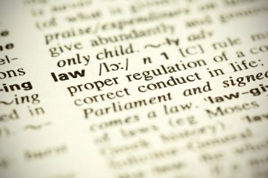 Dictionary definition of the word Law