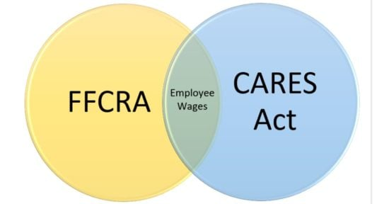 FFCRA and CARES Act Overlap