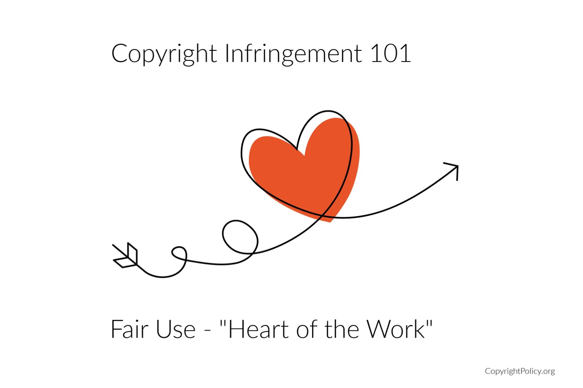 Copyright infringement heart of the work
