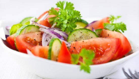 tomato cucumber onion salad