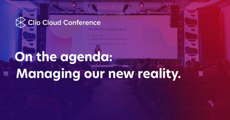 Text on background: On the agenda: Managing our new reality