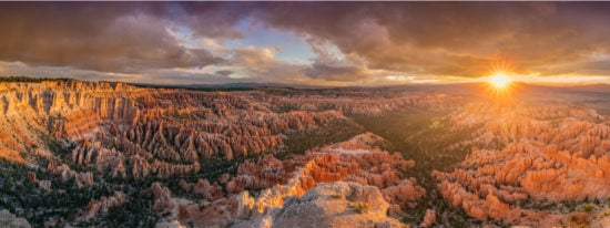 Bryce Canyon National Park sunrise panoramic view