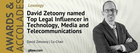 Zetoony Named Lexology Top Legal Influencer in Technology Media and Telecommunications