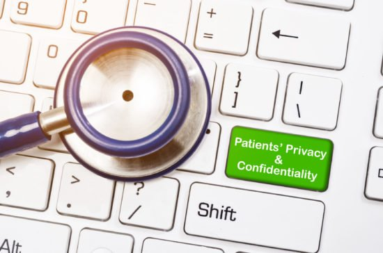 Patients' privacy and confidentiality concept.